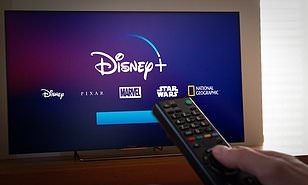 shows opening of Disney plus on TV home screen