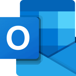 image shows outlook logo