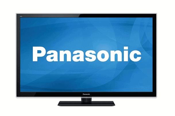 shows panasonic TV screen