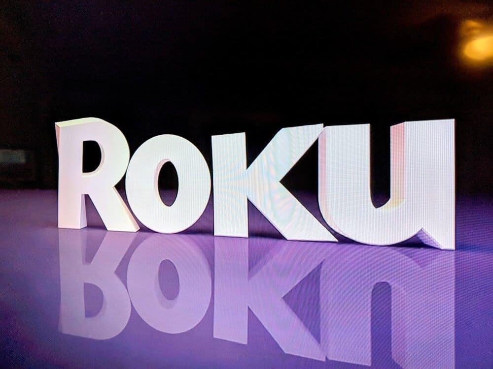 image shows Roku logo on screen