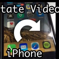 Show the video rotation screen on iPhone