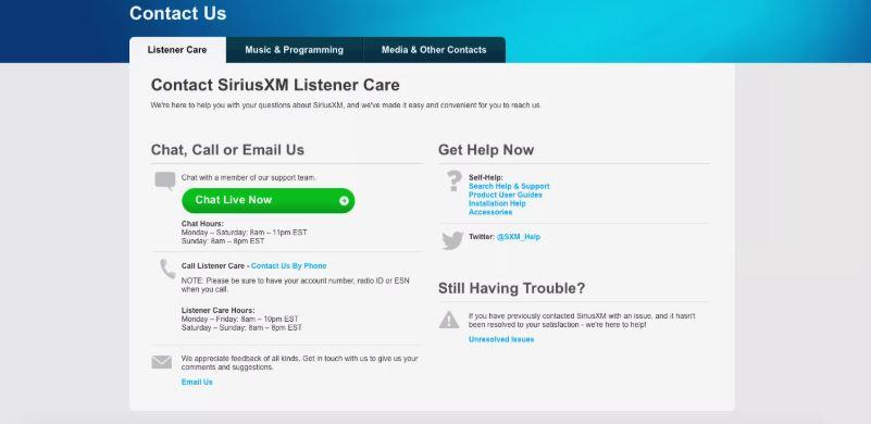 cancel SirusXM subscription