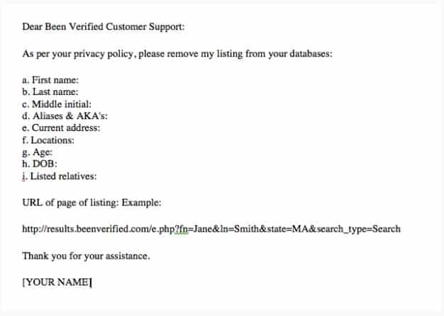 Remove Personal Information from Beenverified