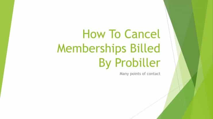 How to Cancel MBI Probiller Subscription