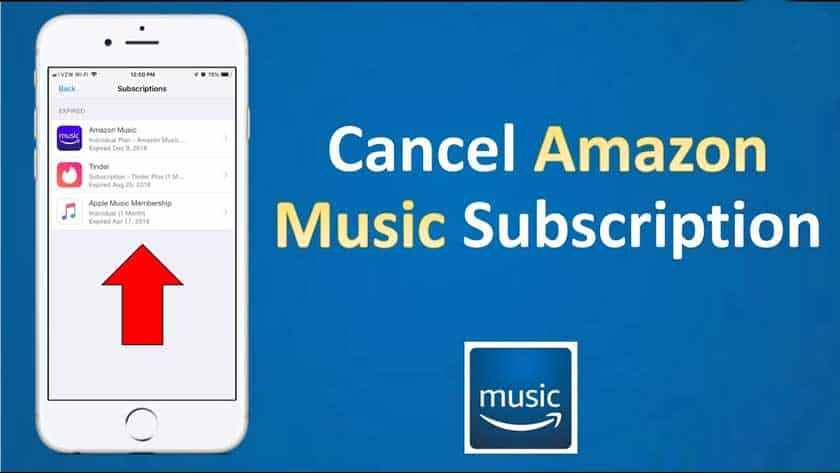 How to cancel Amazon Music Subscriptions