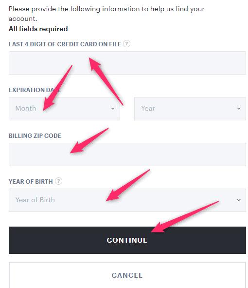 Reset Hulu.com Password
