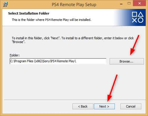 PS4 Remote PlaY Connection Installation Folder