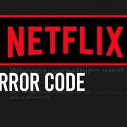 Netflix error code