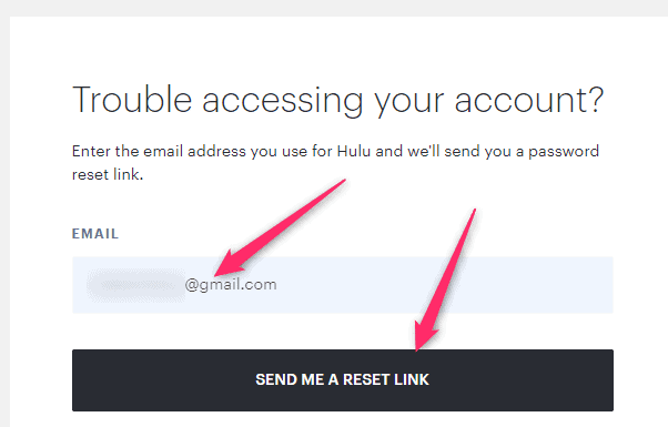 Forogt Hulu Password