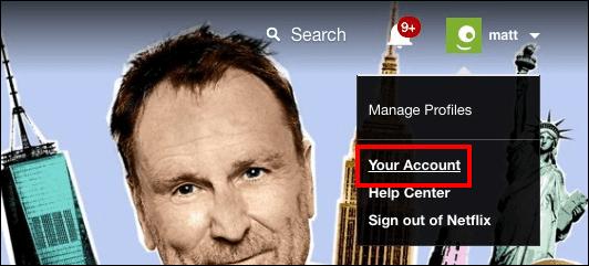 sign out Netflix