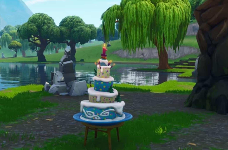 access birthday cake on fortnite