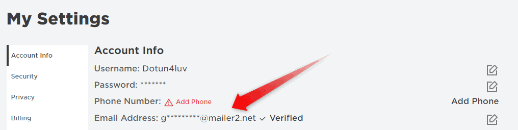 Delete Roblox Email