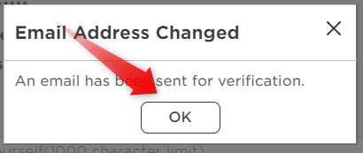 Email address changed