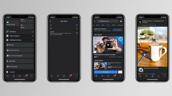 Facebook Dark mode on iPhone