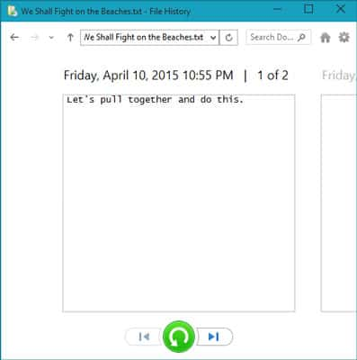 File History in Windows 10