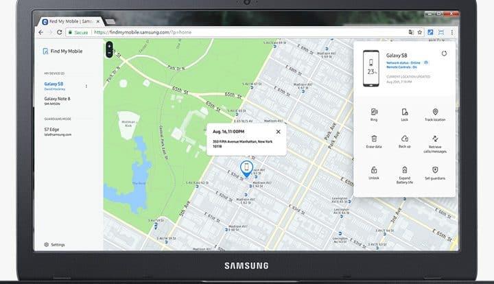 Find my Samsung