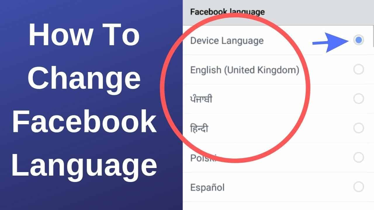 How To Change Language On Facebook