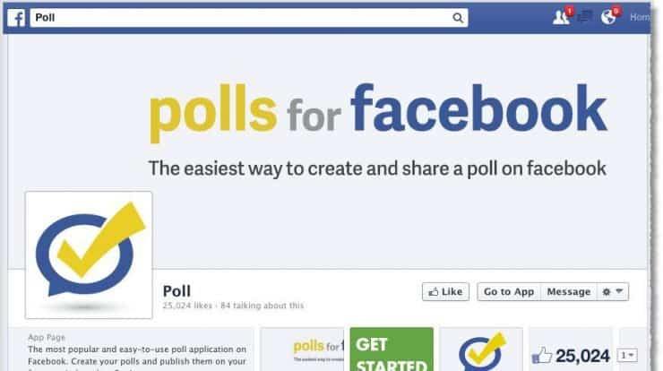 How to create a Facebook poll