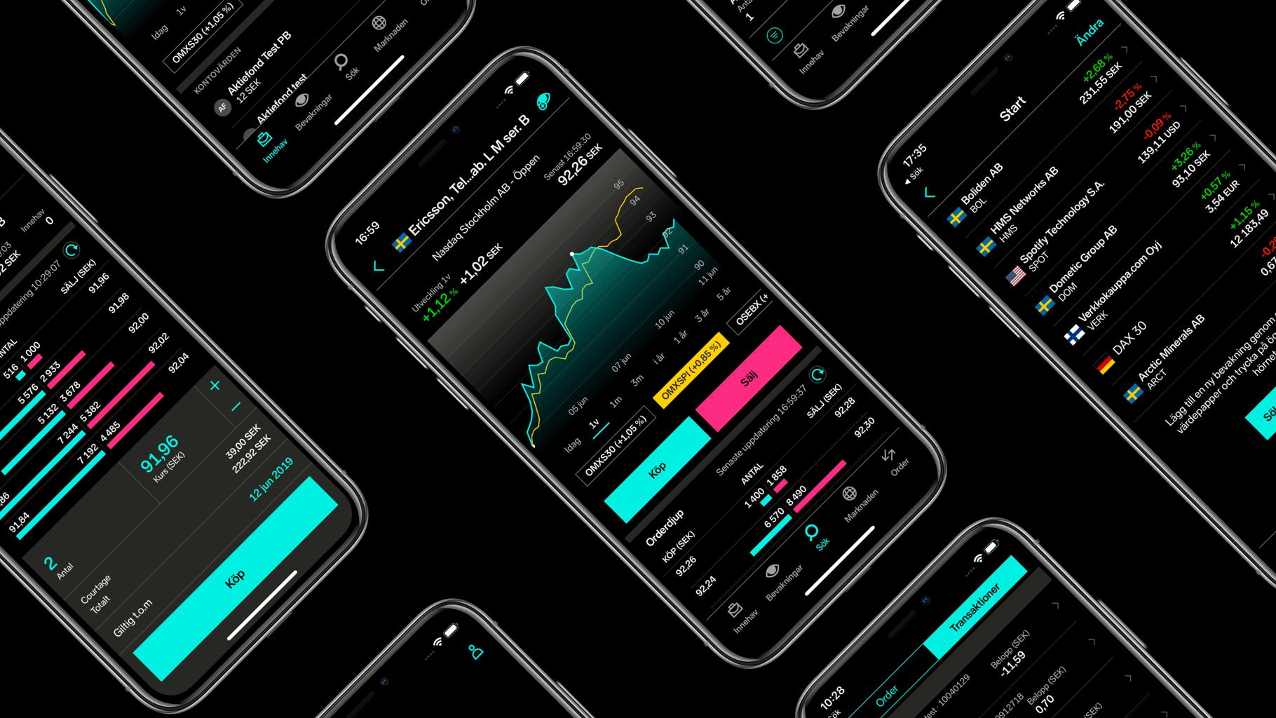 Nordnet app dark mode