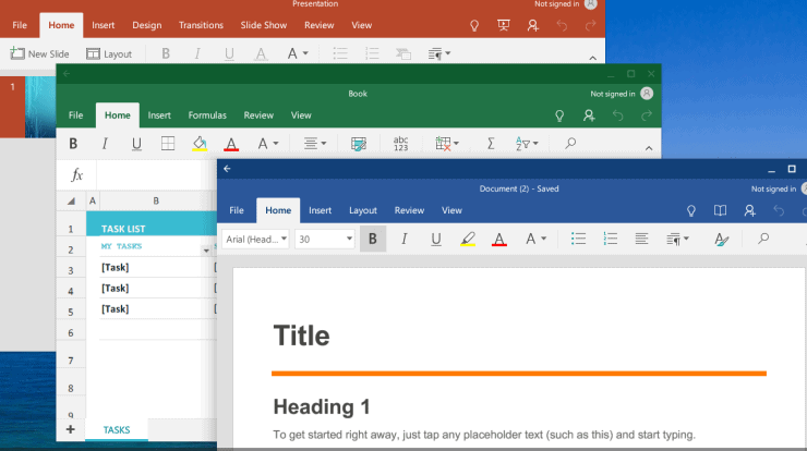 Run Microsoft Office on Chromebook