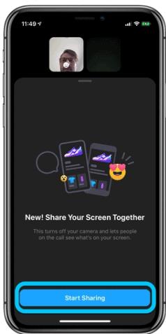 Start screen share