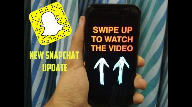 How to swipe up Snapchat