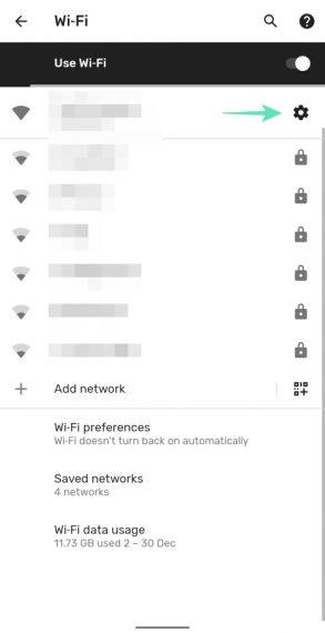 WiFi Gear Settings
