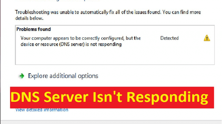 How To Fix DNS Server is not Responding