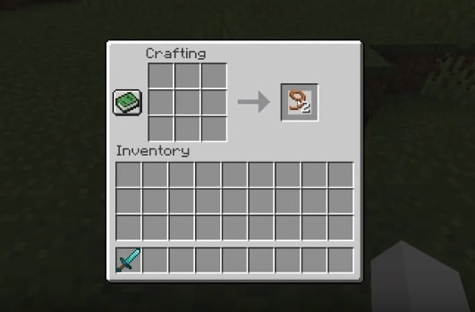 make a lead in minecraft.