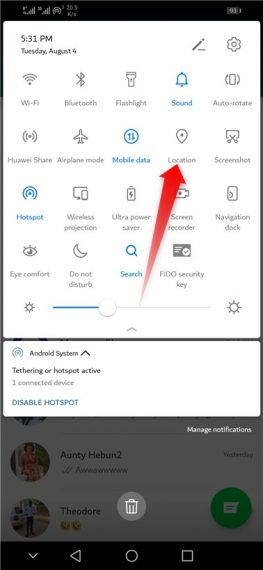 How to enable location on Android