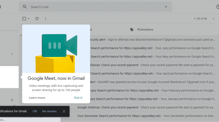 How to Disable Google Gmail Meet Notifications