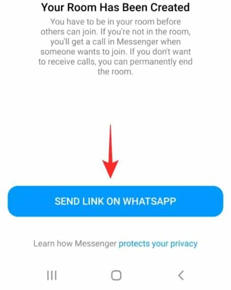 How To Create A Messenger Room Group Call From WhatsApp