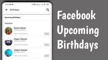 How To Find Birthdays On Facebook App