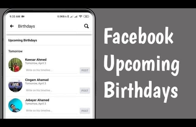 How To Find Birthdays On Facebook App