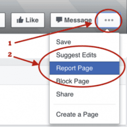 How to Report a Facebook Page