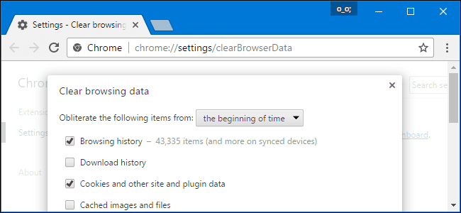 How to clear history