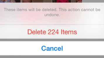 How to delete all photos on iPhone