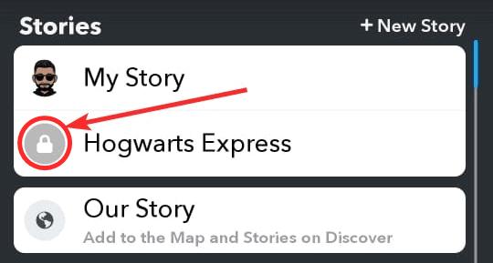 Lock On Snapchat Story