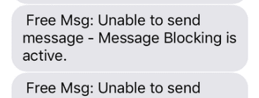 """8 Ways to Fix Free MSG Unable to Send Message """"Message Blocking is Active"""""""