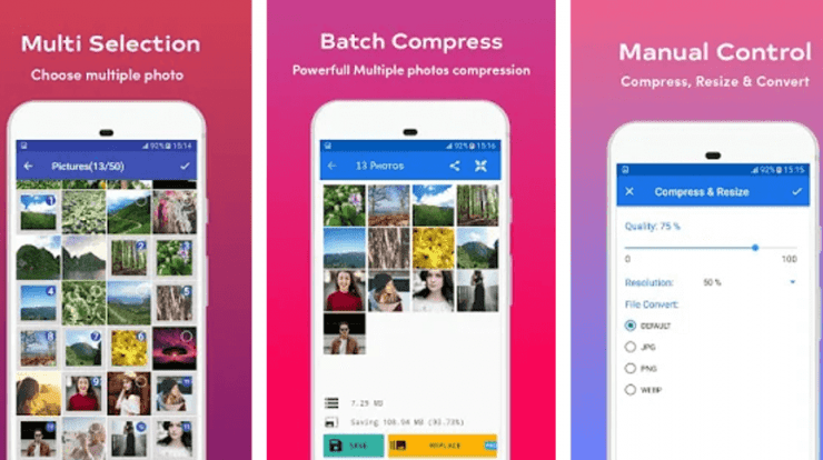 Photo Compression Apps on Android