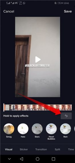 How to remove TikTok filters from video