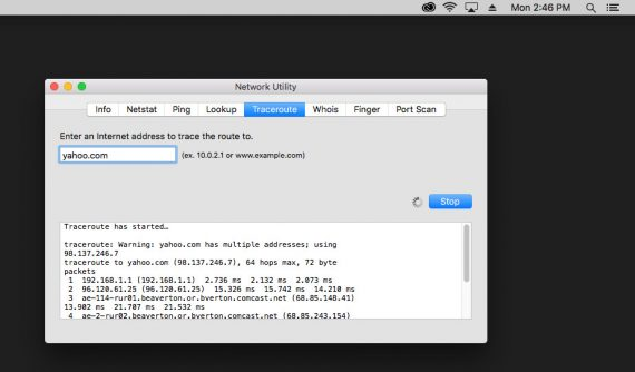How to Run TraceRoute on Mac