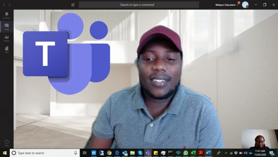 change the background on Microsoft Teams