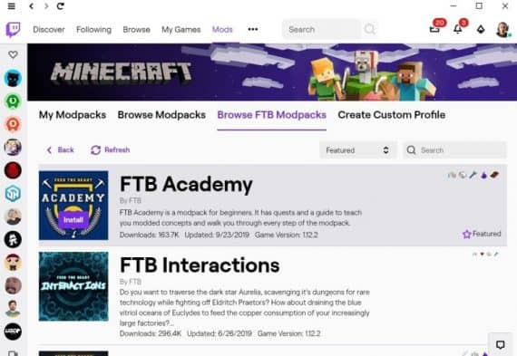 How To Download & Install Minecraft Modpacks Using The Twitch App