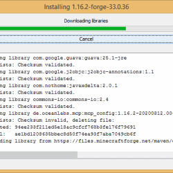 How to Install Forge 1.16.2