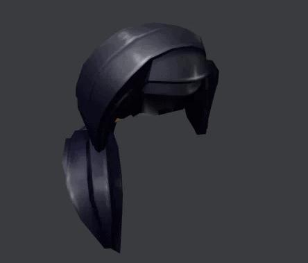 Black Ponytail Roblox free hair