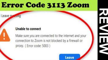 Zoom Error Code 3113