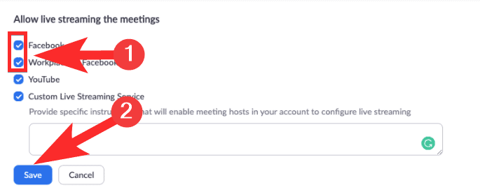How to broadcast Zoom Meeting on Facebook