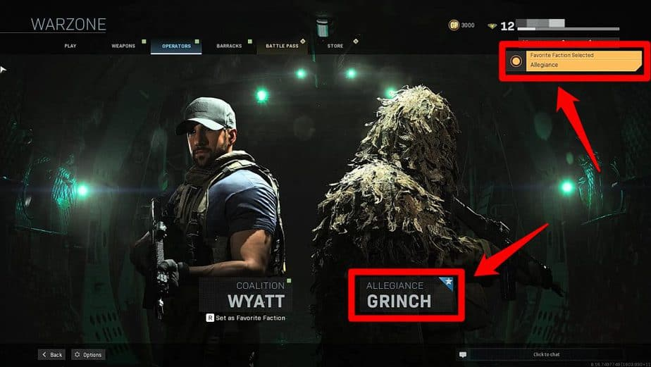 How to change operator in Warzone