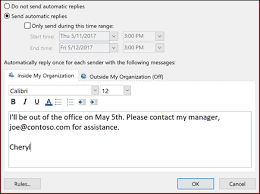 How to set Out of Office on Outlook